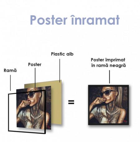 Poster, Fată tatuată