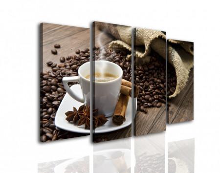 Tablou modular, Un rai de cafea.