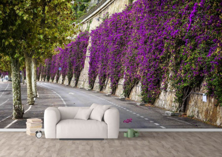 Fototapet, Flori violet