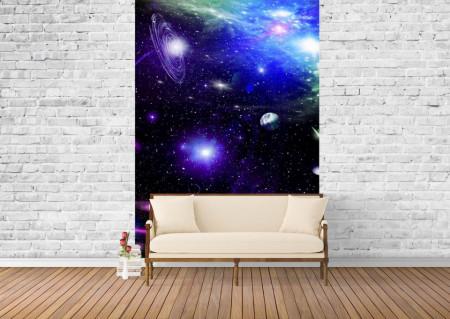 Fototapet, Galaxia albastra