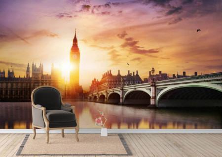 Fototapet, Un apus de soare în Londra