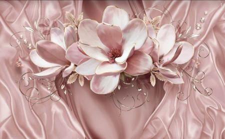 Fototapete 3D, Floare blând roz pe fond blînd.
