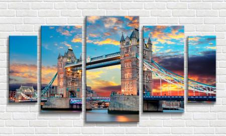Multicanvas, Tower Bridge la apusul soarelui