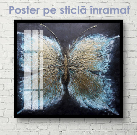 Poster, Fluture albastru