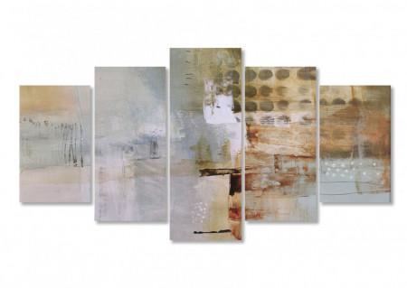 Tablou modular, Fantezie în nuanțe de maro.