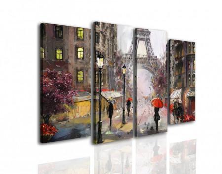 Tablou modular, O plimbare pe ploaie