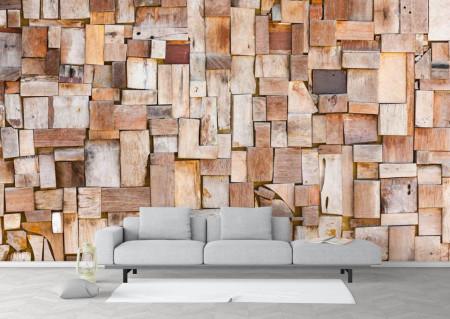 Fototapet Factura, Panou din lemn