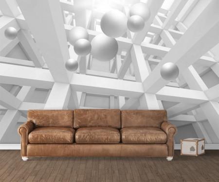 Fototapete 3D, Bile albe în spațiul 3D