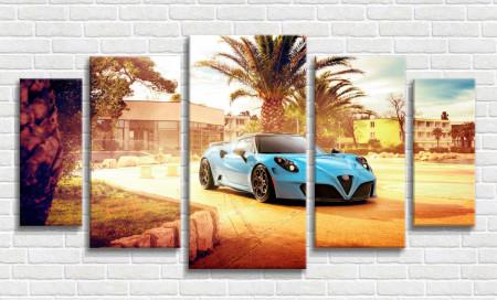 Multicanvas, Mașini albastre în curtea ta