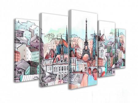 Multicanvas, Parisul desenat în nuanțe calde