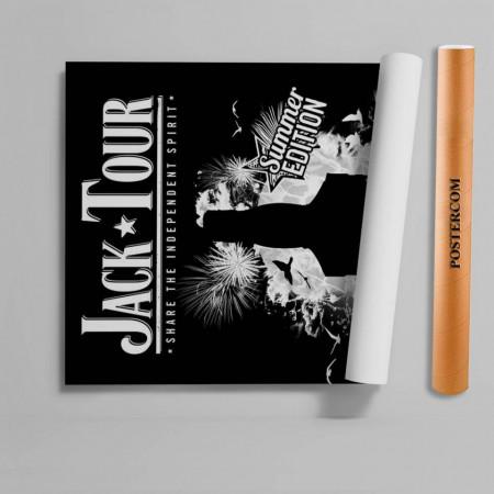 Stickere 3D pentru uși, Jack Daniels, 1 foaie de 80 x 200 cm
