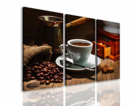Tablou modular, Ceașcă de cafea și boabe de cafea