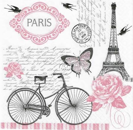 Tablouri Canvas, Turnul Eiffel cu fluturi roz