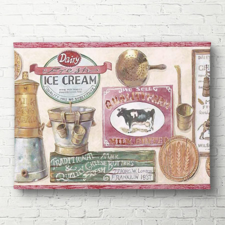 Tablouri Canvas, Un poster cu înghețata