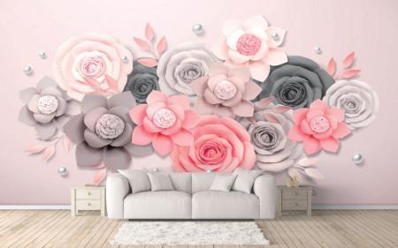 Fototapet 3D, Aranjamentul de flori din hârtie