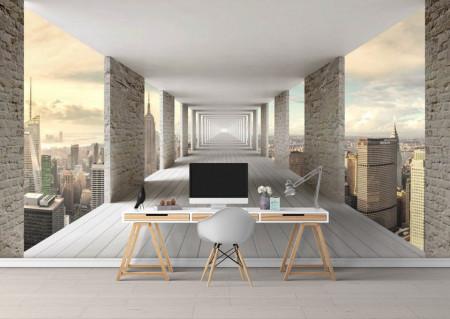 Fototapete 3D, Un balcon în cer.