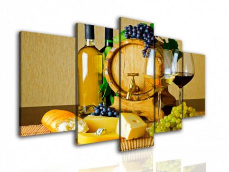 Tablou modular, Vin și cașcaval