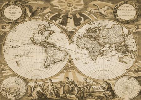 Fototapet, Harta călătorului