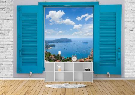 Fototapet, O fereastră albastră