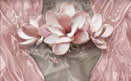 Fototapete 3D, Floare de crin roz.