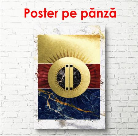 Poster, Desen frumos abstract pe fundal de marmură