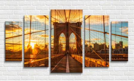 Tablou modular, Brooklyn Bridge