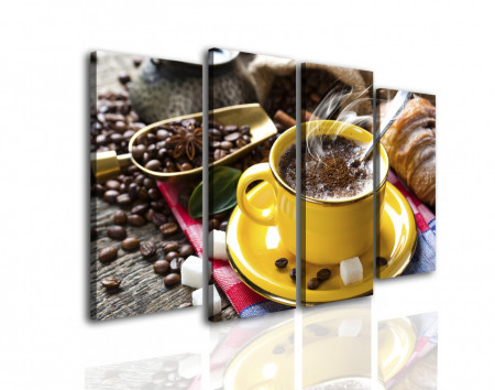 Tablou modular, Cafea într-o ceașcă galbenă