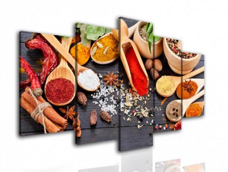 Tablou modular, Condimente colorate pe masă