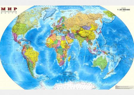 Fototapet, Harta lumii sub formă de sferă