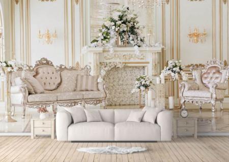 Fototapet, Interiorul cu mobilier frumos