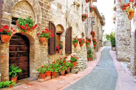 Fototapet Natura, Peisaje, Curte frumoasă din Italia