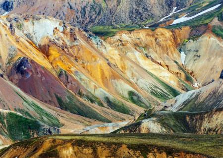 Fototapet, O priveliște montană
