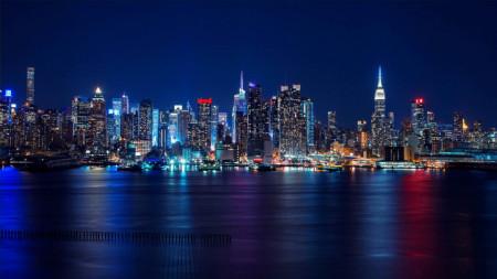Fototapet, Orașul pe apă