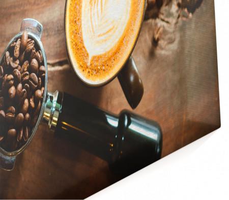 Multicanvas, Cappuccino și boabe de cafea pe masă