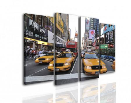 Multicanvas, Mașini de taxi galbene în oraș
