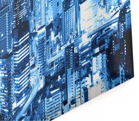 Multicanvas, Orașul de noapte în culori albastre