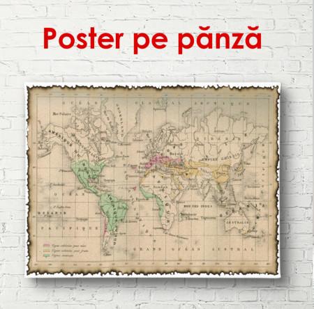 Poster, Harta lumii în stil vechi