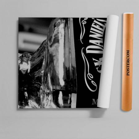 Stickere 3D pentru uși, Whiskey Jack Daniels, 1 foaie de 80 x 200 cm