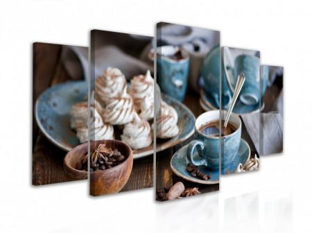 Tablou modular, Băutură aromată de cafea și dulciuri