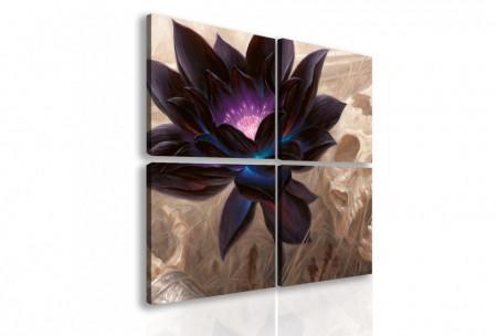 Tablou modular, Floare de lotus neagră