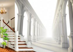 Fototapet 3D, Tunelul cu coloane grecești
