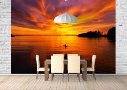 Fototapet, Apusul de soare frumos