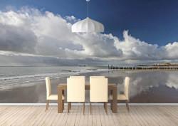 Fototapet, Cerul înorat și marea