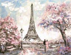 Fototapet, Cuplu pe fundalul Turnului Eiffel