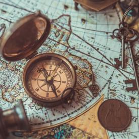 Fototapet, Elemente de hartă