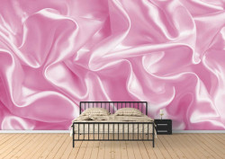 Fototapet Factura, Mătase de culoare roză