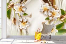 Fototapet, Flori de porțelan cu petale