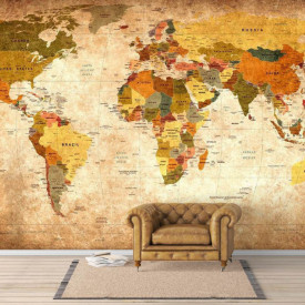 Fototapet, O hartă maro