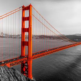 Fototapet, Podul roșu