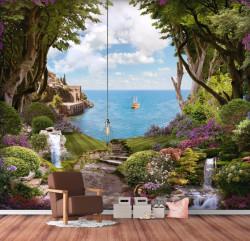 Fototapete 3D, Parcul de lângă mare